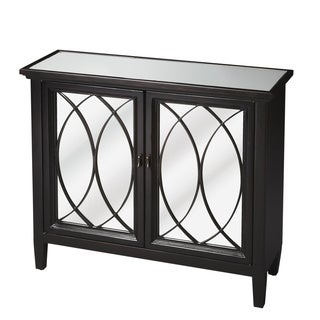 Hand-rubbed Plum Black Console with Mirror Top