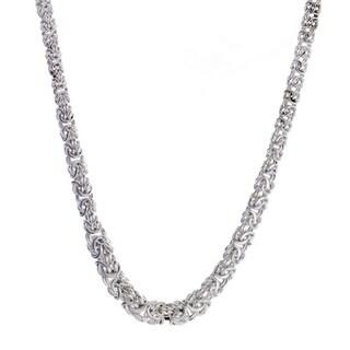 Italian Kariza Sterling Silver Byzanitine Necklace
