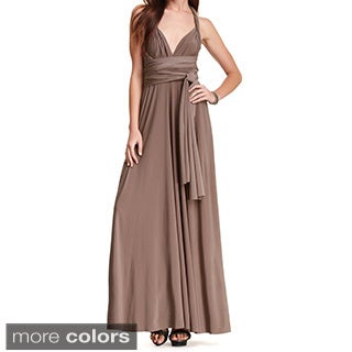 Von Ronen Women's Bridesmaid Convertible Wrap Long Cocktail Gown One Size Fits 0-12 (One Size Fits 0-12)