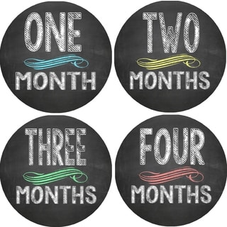 Rocket Bug Chalkboard Monthly Baby Bodysuit Stickers