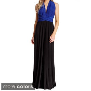 Von Ronen Women's Convertible Colorblock Long Transformer Dress (One Size Fits 0-12)