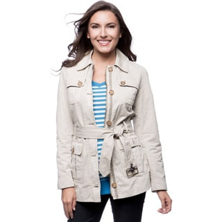 Tommy Hilfiger 30-inch Single Breasted Button Front 4-pocket Field Jacket