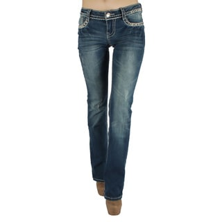 Sexy Couture 'S17-PB' Women's Mid-rise Boot Cut Jeans
