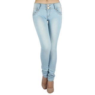 Sexy Couture 'S04-PS' Women's Mid-rise Skinny Jeans