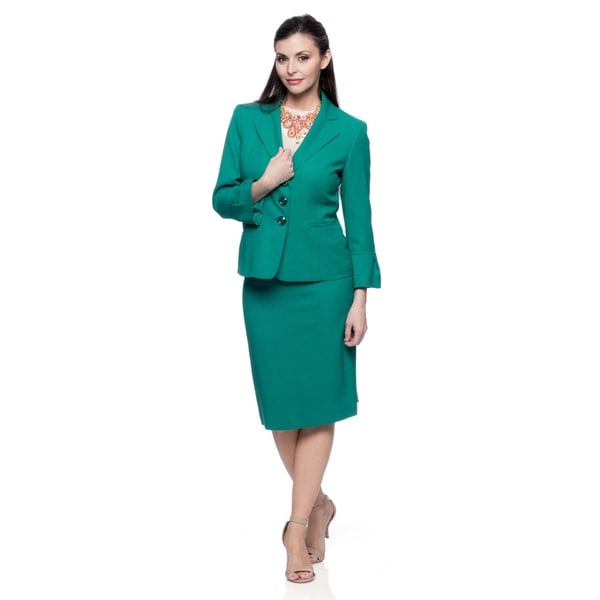 Evan Picone Missy Jade Green 2-piece Skirt Set