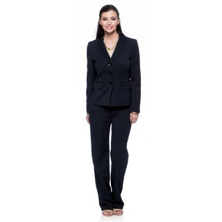 Evan Picone Missy Navy Melange Jacket and Pant Set