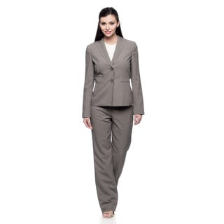 Evan Picone Missy Grey Pinstripe Peak Jacket and Pant Set