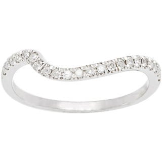 10k White Gold 1/5ct TDW Diamond Curved Band (G-H, I1-I2)