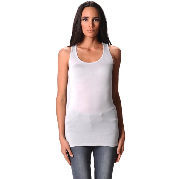 Sara Boo Women's Grey Sequin Lace Tank Top