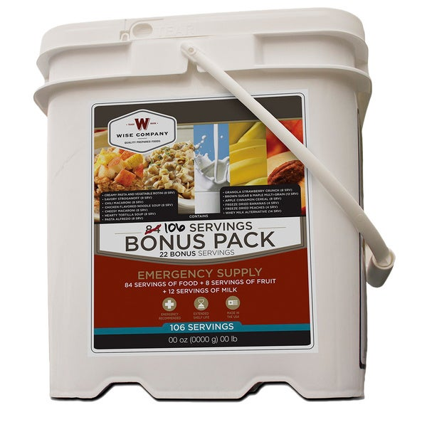 Wise Company Emergency Supply 106 Servings Bonus Pack