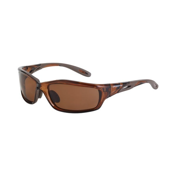 Mach 1 Crystal Brown Frame with HD Brown Polarized Lens