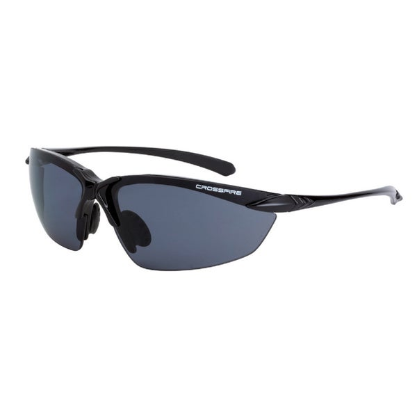 Chassis Shinny Black Frame with Smoke Polarized Lens