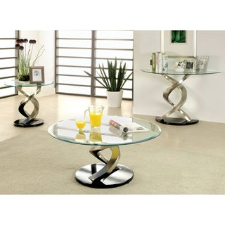 Furniture of America Helena Modern 3-Piece Accent Table Set