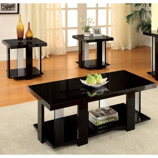Furniture of America Kennin 2-Toned 3-Piece Accent Table Set
