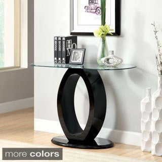 Furniture of America Opelle Modern O-Shaped Sofa Table