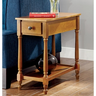 Furniture of America Lydia Oak Side Table