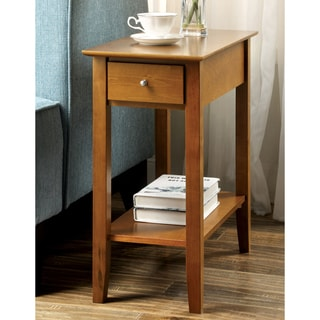 Furniture of America Delpha Oak Side Table