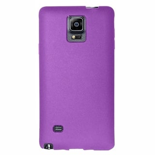 Insten Purple Jelly TPU Rubber Candy Skin Phone Case Cover For Samsung Galaxy Note 4