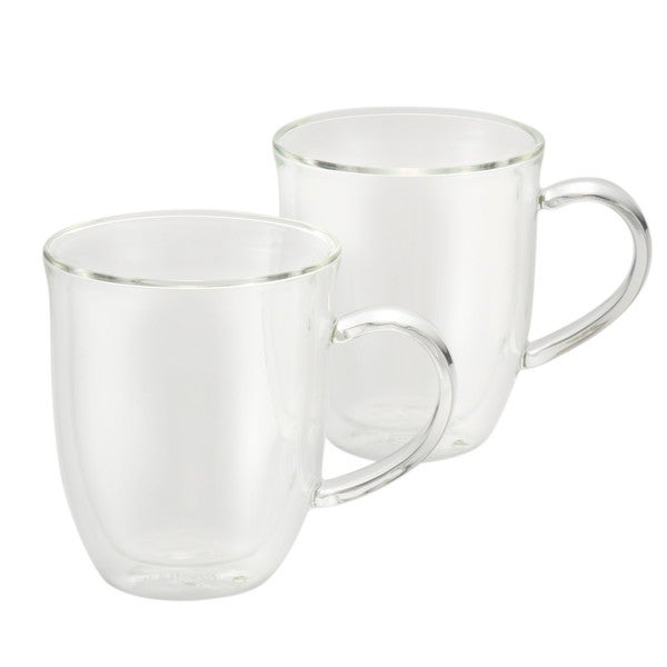 BonJour Coffee 2-Piece Insulated Glass Latte Cup Set 14937022