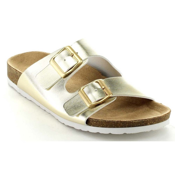 Soda Women's Buckle Straps Slip-On Sandals