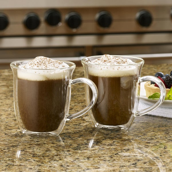 BonJour Coffee 2-Piece Insulated Glass Cappuccino Cup Set 14937050