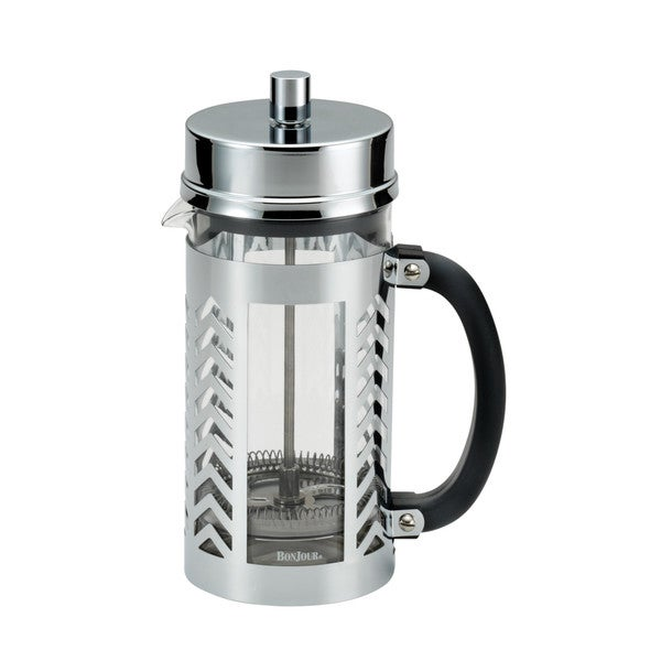 BonJour Coffee 8-cup Stainless Steel Chevron French Press 14937186