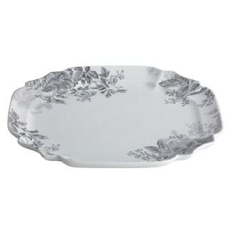 BonJour Dinnerware Shaded Garden 13 1/4-inch Slate Porcelain Square Platter
