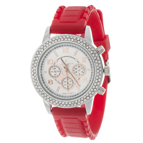 Xtreme Via Nova Women's Silver Cubic Zirconia Watch