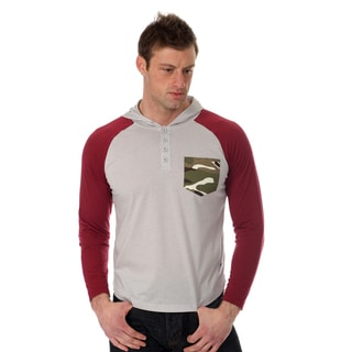 Something Strong Men's Raglan Cut Hooded Henley