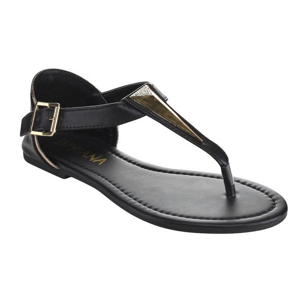 Diviana Women's Moira-5 Buckle Strap Sandals