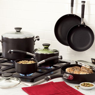 Circulon Acclaim Hard-Anodized Nonstick 13-Piece Cookware Set, Black