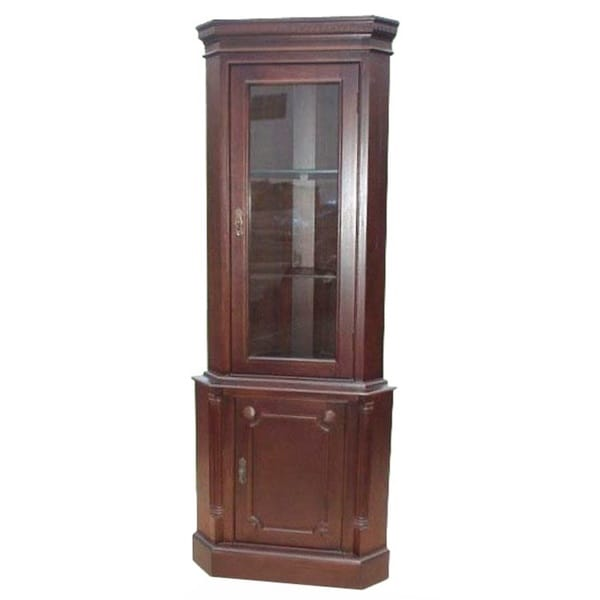 D-Art Mahogany Corner 1-door Cabinet (Indonesia)