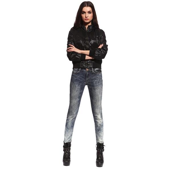 Anladia Women's Gradient Denim Pencil Leg Skinny Jeans