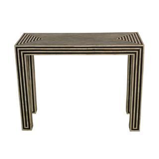 Stripped Black-Bone Console Table