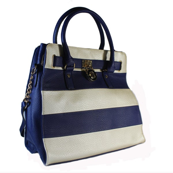 Lithyc 'Paige' Large Vegan Leather Striped Tote