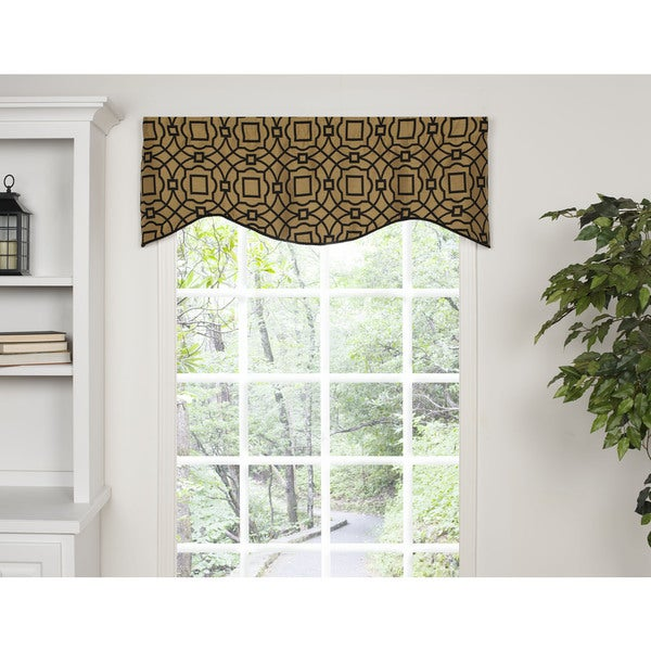 Newcastle Gold Shaped Valance