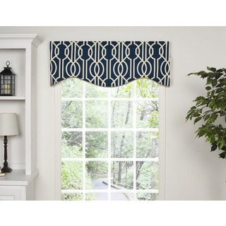 Andros Blue Shaped Valance