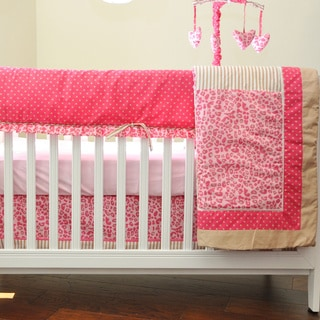 Pam Grace Creations Tabby Cheetah 10-piece Crib Bedding Set