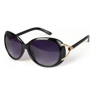 Journee Collection Women's Jeweled Plastic Fashion Sunglasses