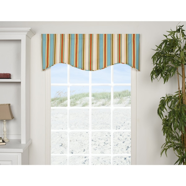 Malibu Stripe Shaped Valance
