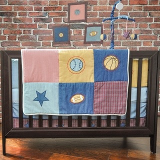 Pam Grace Creations Let's Play Ball 10-piece Crib Bedding Set