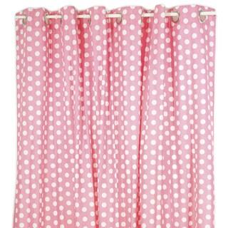 Pam Grace Creations Pink Dot Shower Curtain