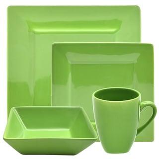 Vivo 16-piece Green Square Dinner Set