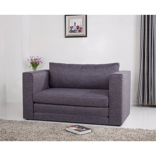 Corona Dark Grey Convertible Loveseat Sleeper