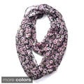 Dasein Floral Print Infinity Scarf