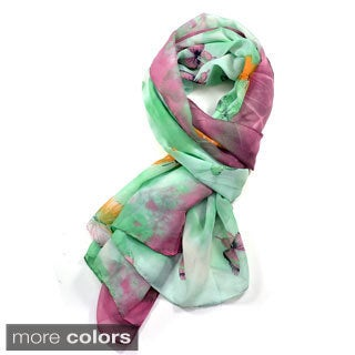 Dasein Sheer Butterfly Pattern Scarf