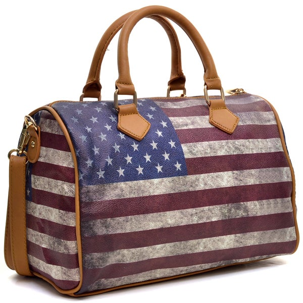 Dasein Studded American/ British Flag Satchel