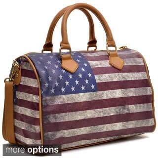 Dasein Studded American/ British Flag Satchel
