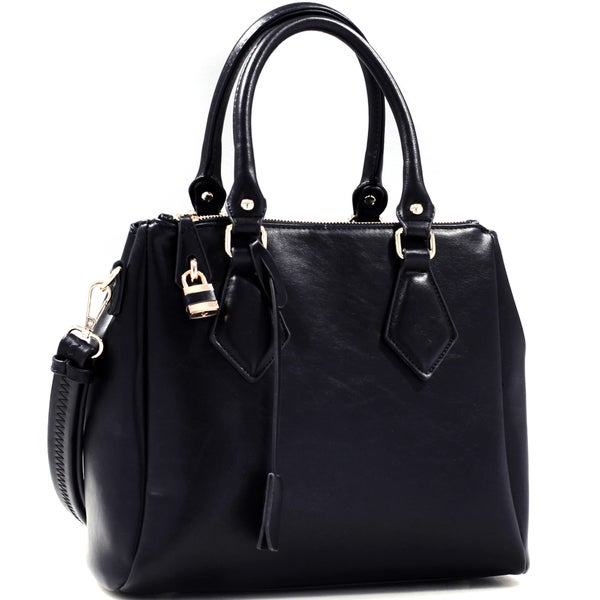 Dasein Leatherette Lock and Key Satchel