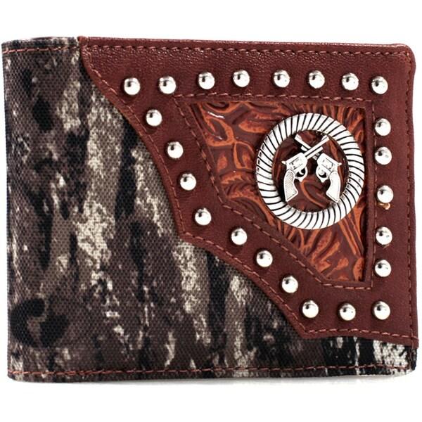 Mossy Oak Western Studded Bi-fold Wallet